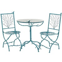 Blue 3-Pc Cool Metal Bistro Set