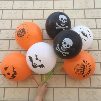 100PCS Halloween Print Party Decoration Balloon [114654183454]