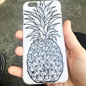Drawn Pineapple iPhone Case