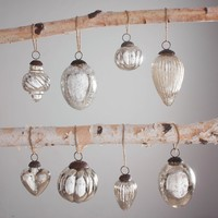 Handmade Glass Ornaments Mercury Set of 8 - Accents - Accessories