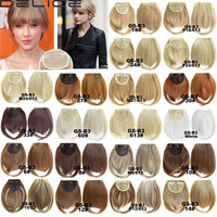 Women's Straight Neat Bangs Fringe Synthetic Hair Extensions Clip in Hair Piece 32 Colors B3-2