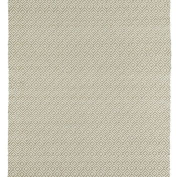Ivory Diamond Rug in Jute + Felted Wool
