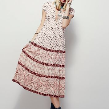 Free People Bella Notte Printed Dress