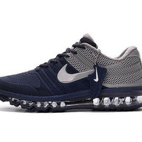 Nike Air Max Classic Women Men Air Cushion Sneakers Running Sport Shoes Dark Blue Grey I
