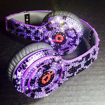 Beats by Dre Headphones Leopard Print made w Swarovski Elements