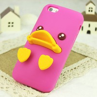 Rubber Duck Soft Silicon Phone Case For iPhone 4/4S (Pink)