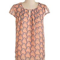ModCloth Critters Mid-length Cap Sleeves Eagle to Please Top