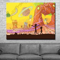 Rick and Morty Canvas Set