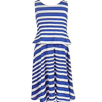 Copper Key 7-16 Popover Dress - Cobalt