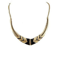 Basket Hill Watches and Gifts, Classic Black and Gold Choker Necklace