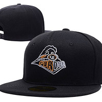 HAIHONG Purdue University Train Logo Adjustable Snapback Embroidery Hats Caps - Black