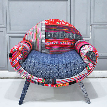 Smiley Patchwork armchair - August