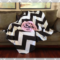 Monogrammed Blanket Personalized Blanket with by BoutiqueMonogram