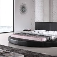 Oslo Round Bed King Size (Black).