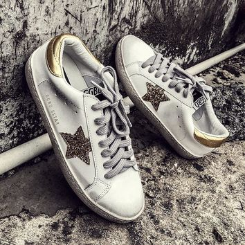 Star Skateboarding Shoes Dirty Do Old Shoes Sneakers Women Comfortable Zapatillas Mujer Female Zapatillas Vintage White Shoes