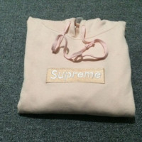 """Supreme""Fashion leisure loose hooded sweater Pink"