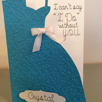 Will you be my bridesmaid cards I can't say I do without you wedding cards maid of honor cards