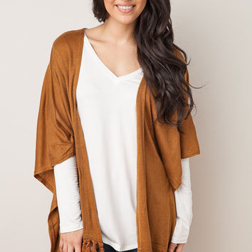 All Good Vibes Camel Cardigan