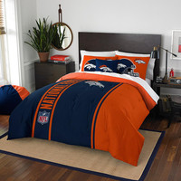 Denver Broncos NFL Full Comforter Set (Soft & Cozy) (76 x 86)