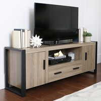 Urban Black Blend TV Stand in Driftwood