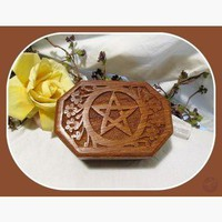Octagonal Pentagram Keepsake Box