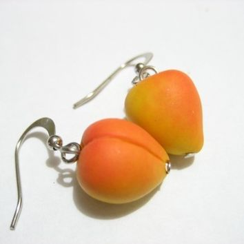 Just Peaches Earrings - Food Jewelry