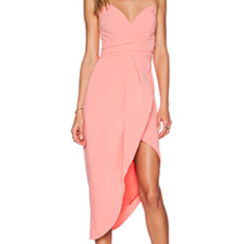 Lovers + Friends Riviera Strapless Dress in Coral