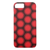 red hexagon pattern iPhone 8/7 case
