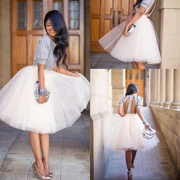 NEW Arrivals Women Girls Princess Ballet Tulle Tutu Skirt Wedding Prom Rockabilly Skirts