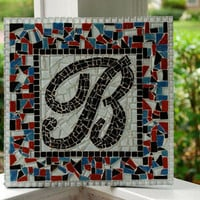 Monogram Art, Custom Initial Mosaic
