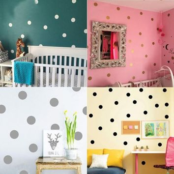 Polka Dots Vinyl Removable Art Wall Sticker Decal Home Bedroom DIY Wall Decor