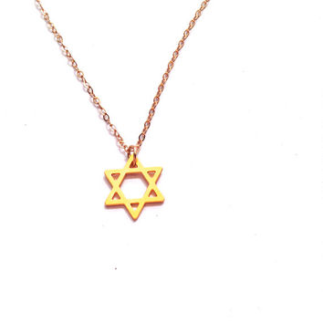 Star Of David Necklace Gold Necklace Davis Shield Icon Jewelry Design Logo Necklace Beep Jewellery Gold Plated Small Pendant Miniature Star