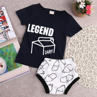 Baby Clothing Set Baby Girl Clothes 2pcs Sets  T-shirt Tops+pp shorts Outfits Kids Newborn bebe Clothes Set For 0-2 years