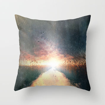Dreams of dust Throw Pillow by HappyMelvin