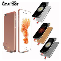 Tmalltide Ultra Thin Rechargeable Backup External Battery Charger Case For iPhone 6 6S 7 Plus Power Bank Cover