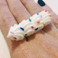 Whipped Cream & Sprinkles Ring