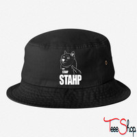 Doge Stahp bucket hat