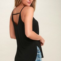 Amie Black Tank Top
