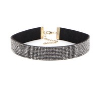Casual Full Of Diamond Rhinestone Choker Necklace