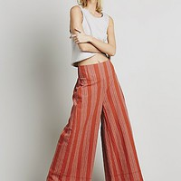 Free People Womens Stripe Extreme Wideleg