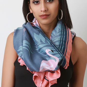 Flamingo Palm Scarf | UrbanOG