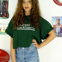 Vintage 90's Denver USA Cropped Sweater Crop Top from The Vintage Scene