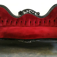 Black Rocker Chaise Lounge Sofa Loveseat Queen King Throne Gothic Glam