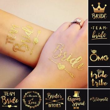 1Pcs Bride Tribe Temporary Tattoo Wedding Party make up Bridesmaid Bridal Bachelorette Decoration temporary tattoo sticker A6