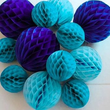 5pc 6inch(15cm) Tissue Paper Honeycomb Ball Decorations for Birthday Party Baby Shower Wedding Aniversary Home Space Decor