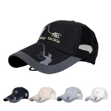 VONL8T Unisex Men Women Adjustable Fishing Cap Snapback Golf Sports Hat Sun Visor