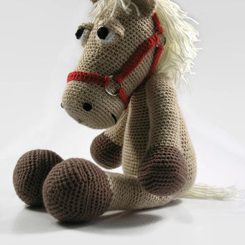 Crochet horse - stuffed horse - crochet pony - toy horse - toy pony - crochet animal - amigurumi horse - plush horse - horse doll