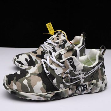 OFF-White X Nike Air Roshe One Camo Running Shoes
