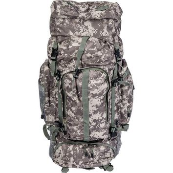 Digital Camo Water-Resistant, Heavy-Duty Mountaineer's Backpack