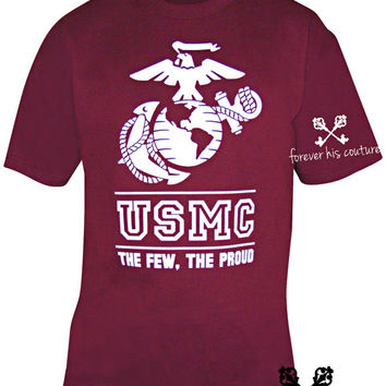 usmc girlfriend USMC shirt Usmc tee usmc wife usmc mom marine girlfriend marine wife marine mom marine tee usmc the few the proud Unisex tee